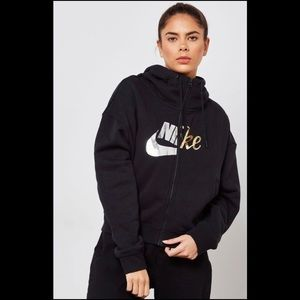 Nike Rally Metallic Clash Full-Zip Hoodie S